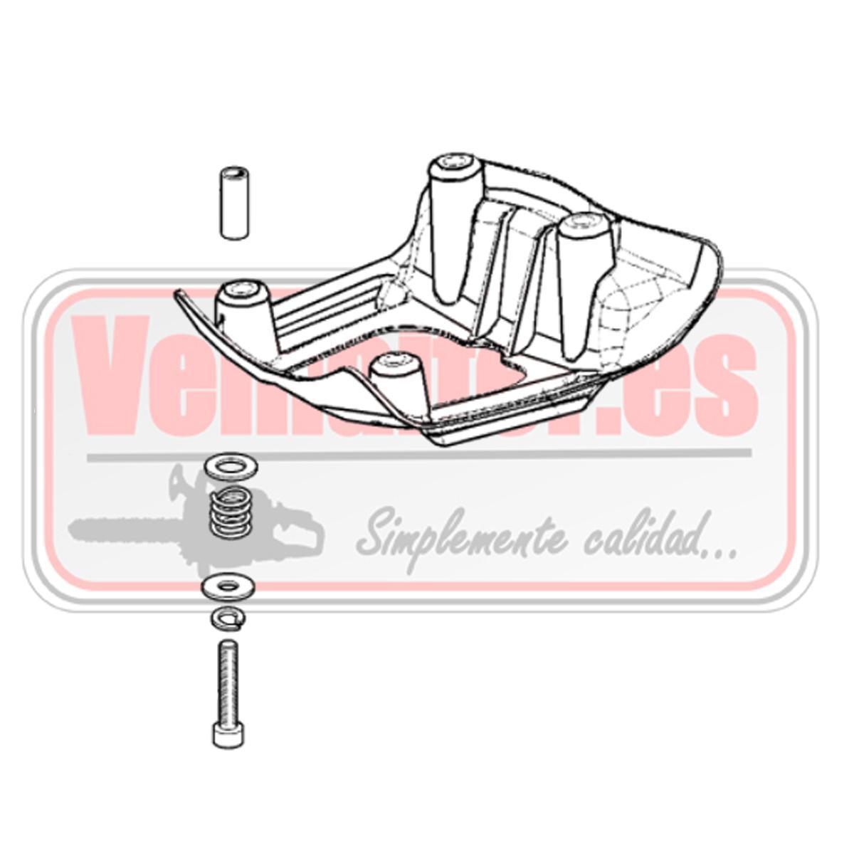 Protector deposito gasolina Oleo Mac BC 420 con tornillos