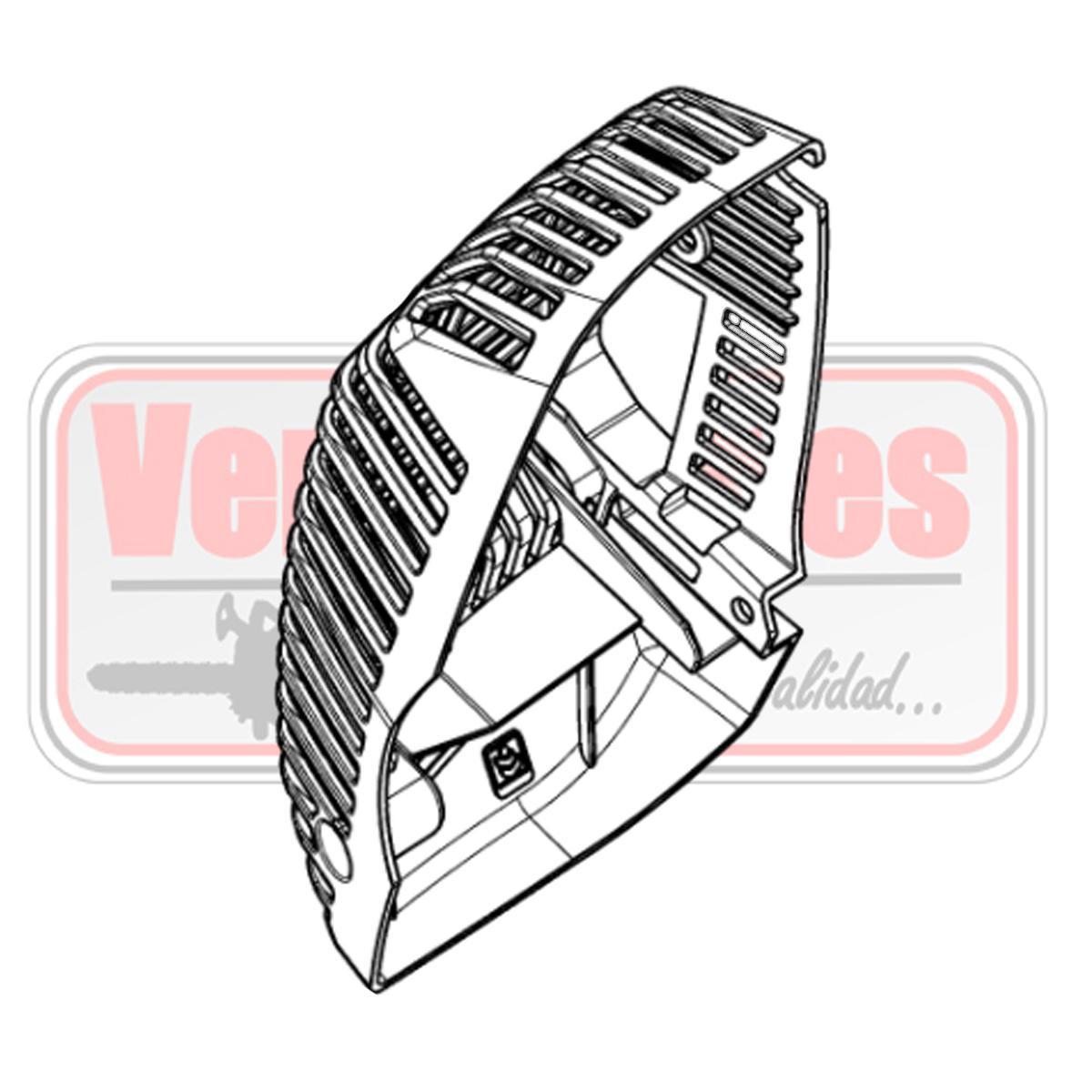 Carcasa lado silenciador Oleo Mac BC 240 / 241