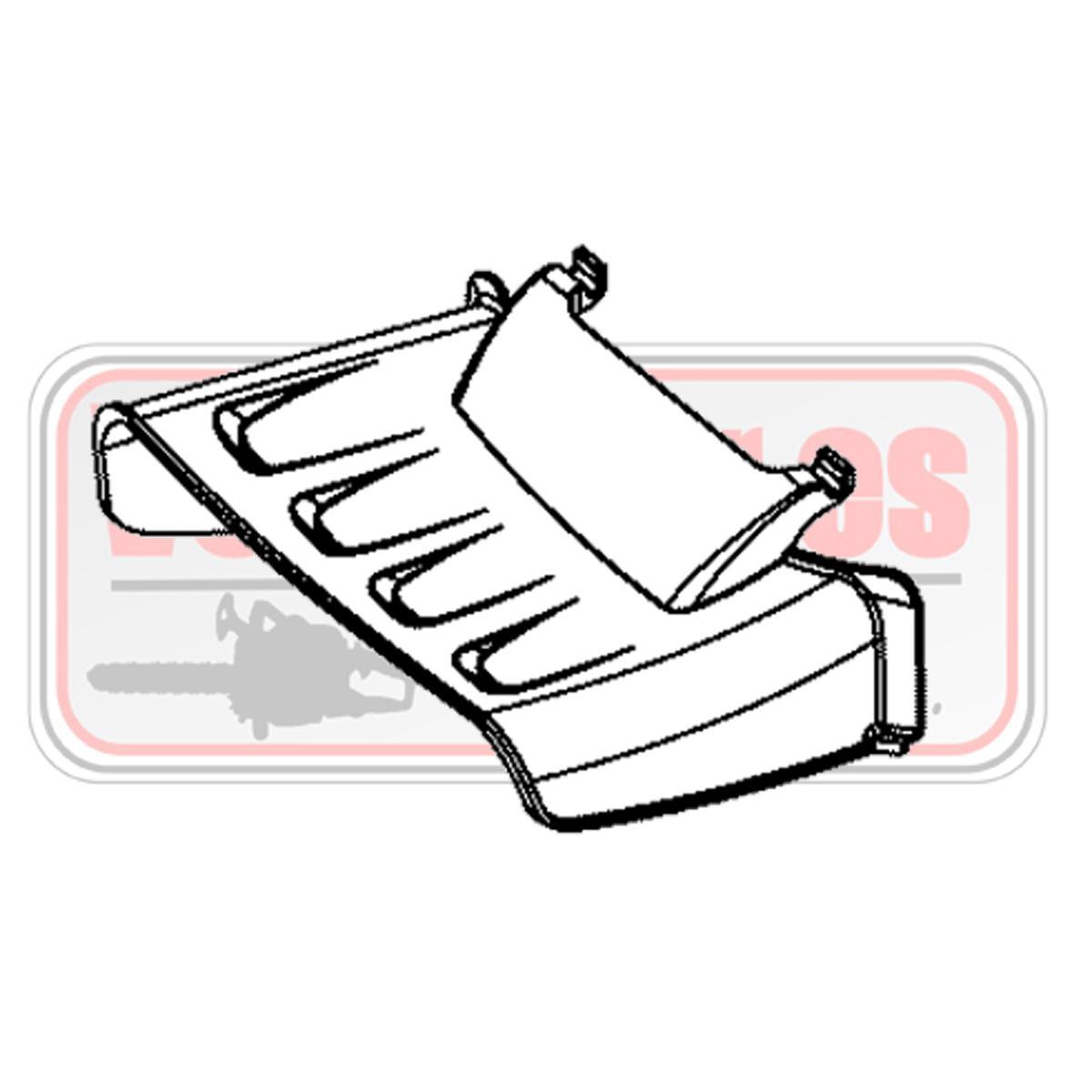 Deflector salida lateral cortacesped Oleo Mac G 53 tk
