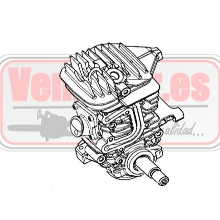 Bloque motor completo Oleo Mac GS 440 [0]