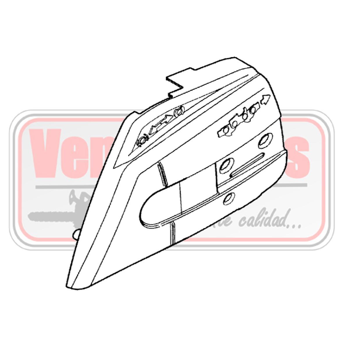 Tapa cadena Oleo Mac GS 350 C / 35 Ref. 161412