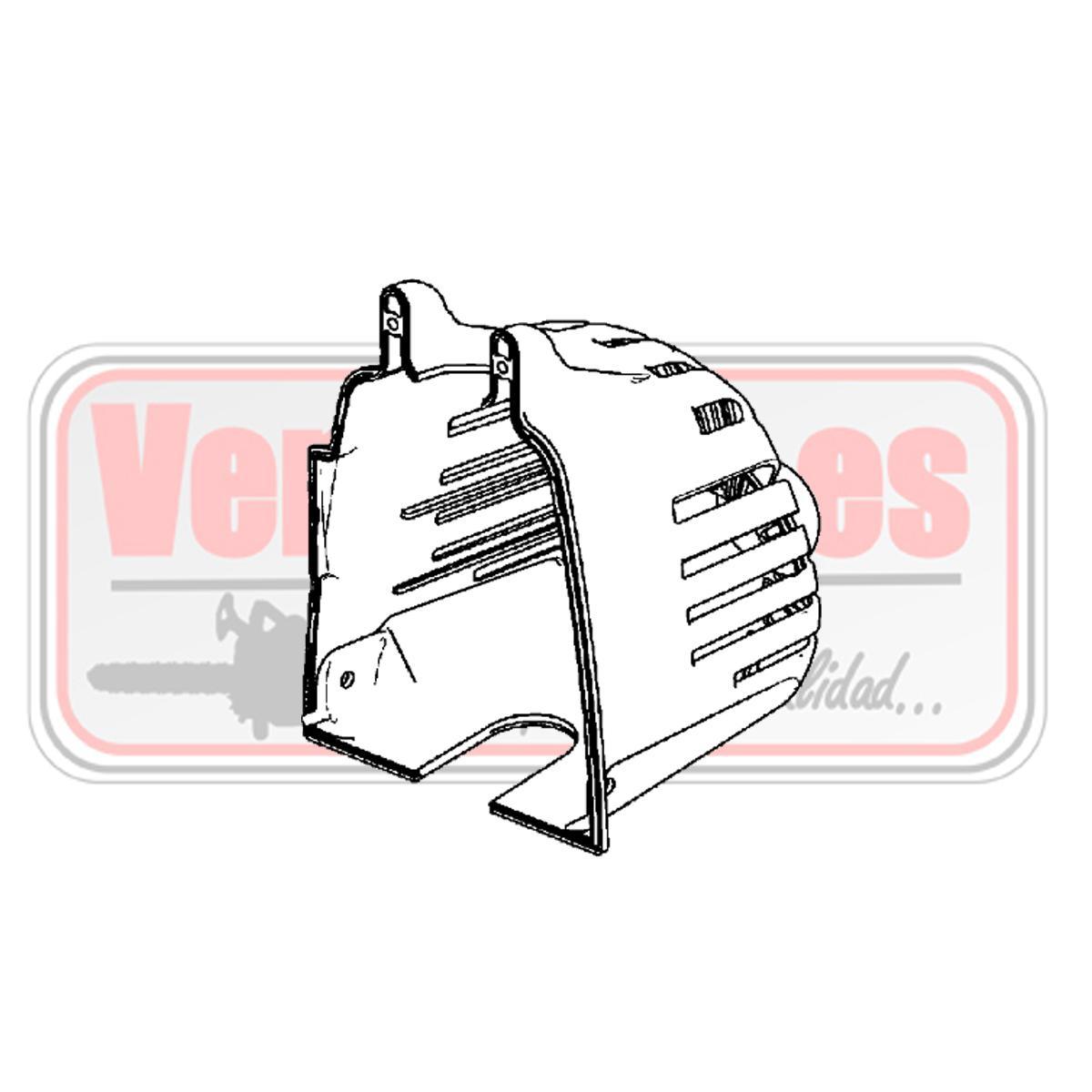 Tapa de silenciador Oleo Mac SPARTA 250 T / S