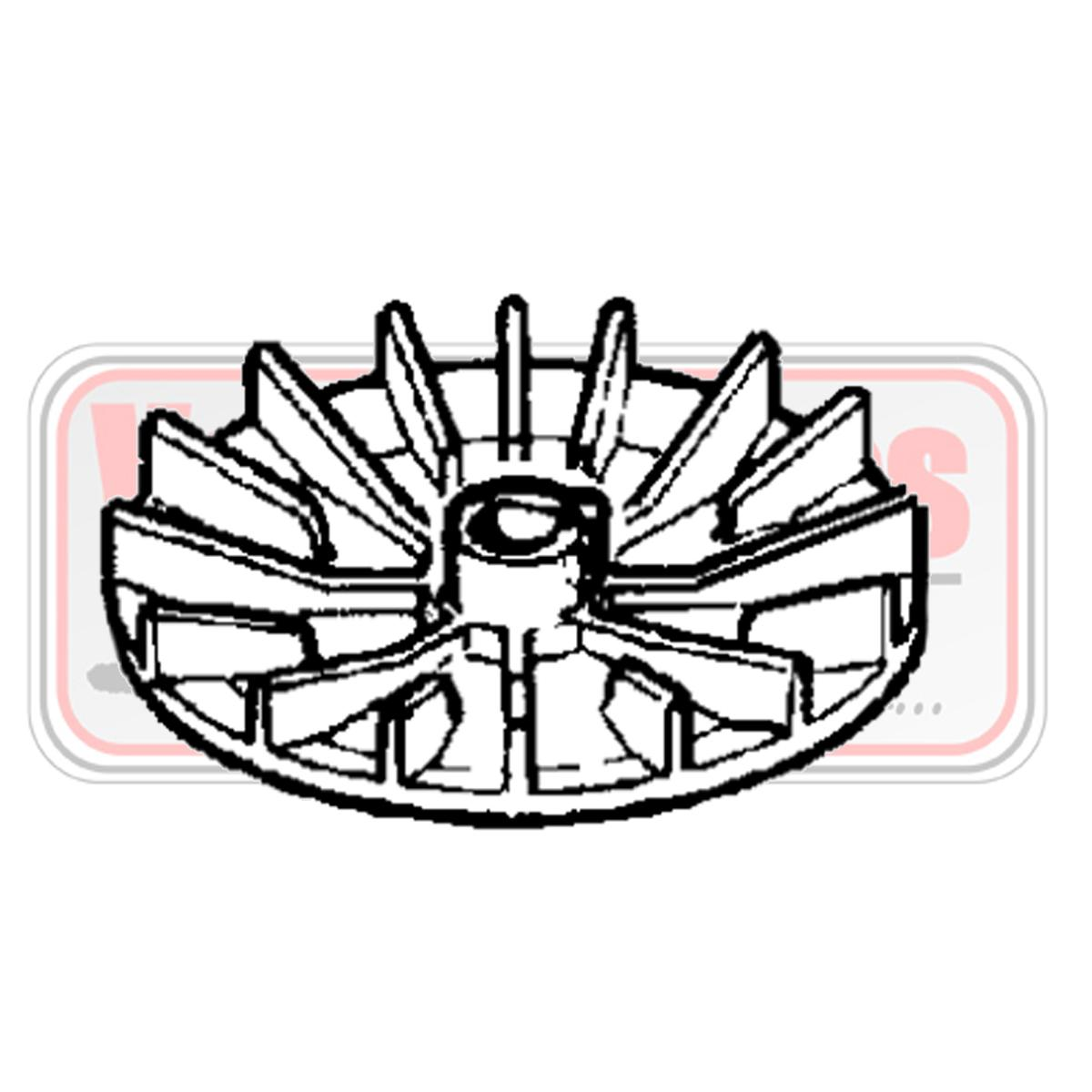Ventilador, soporte cuchilla Oleo Mac G 44 / 48 PE - GE 43 / 47