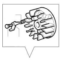 volante magnetico Oleo Mac sparta 25 / 26 / 250
