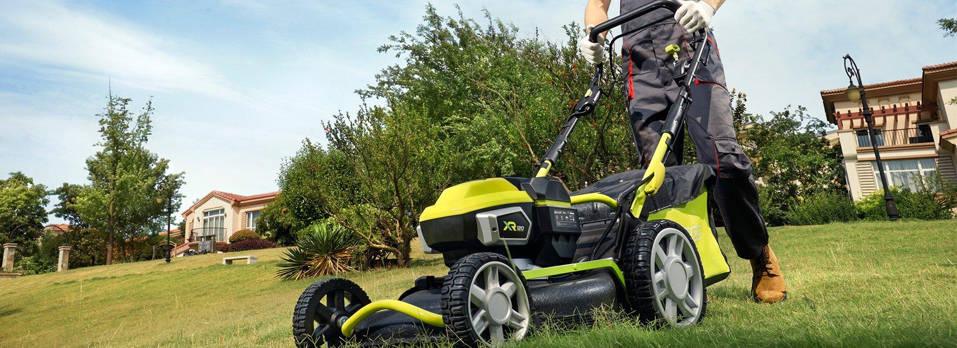 Cortacesped de bateria potente profesional G-Force XR 120 LM 53 SP
