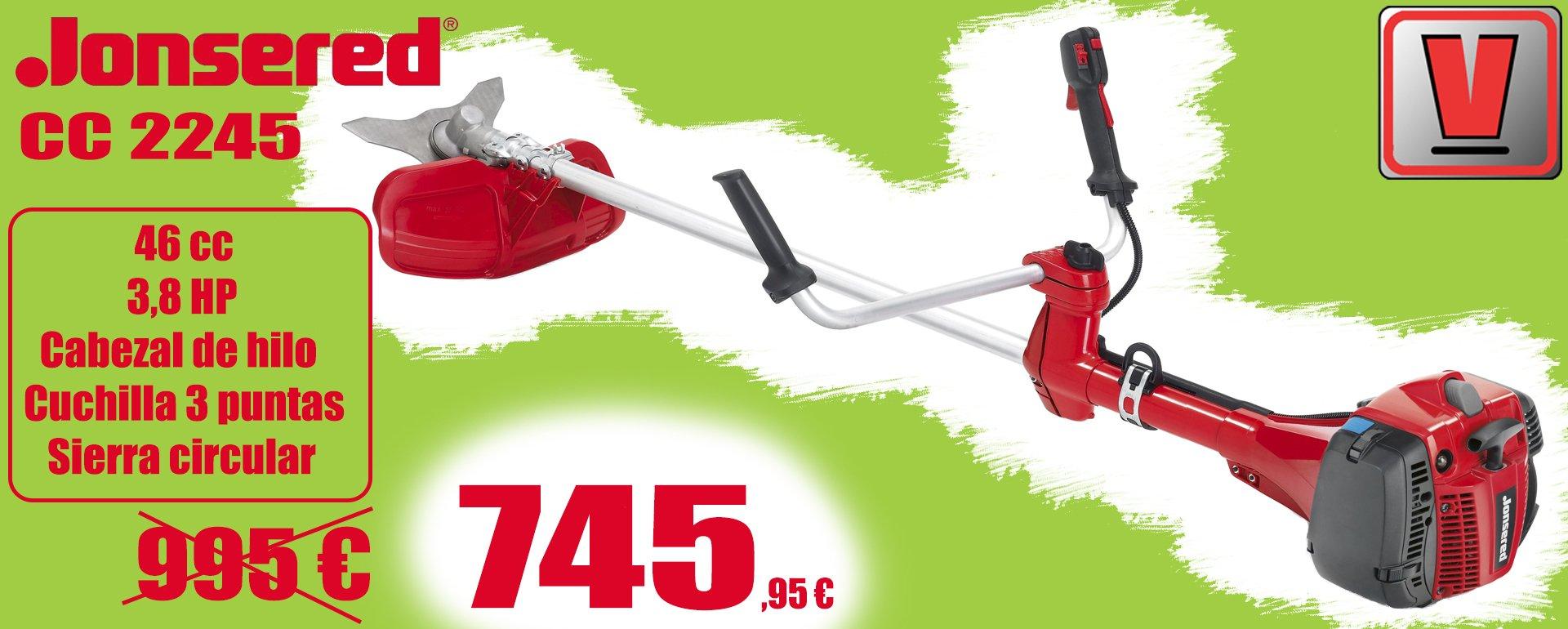 desbrozadora jonsered cc 2245 al mejor precio