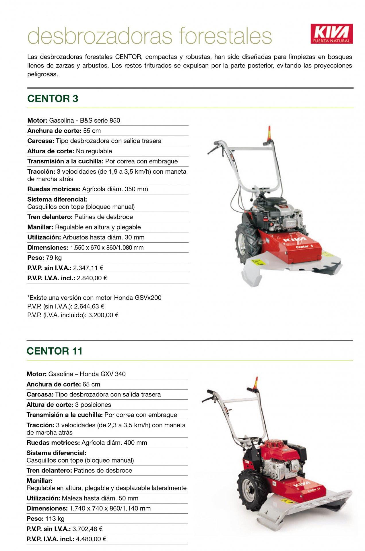 Desbrozadora de ruedas profesional KIVA Centor 3 / 11