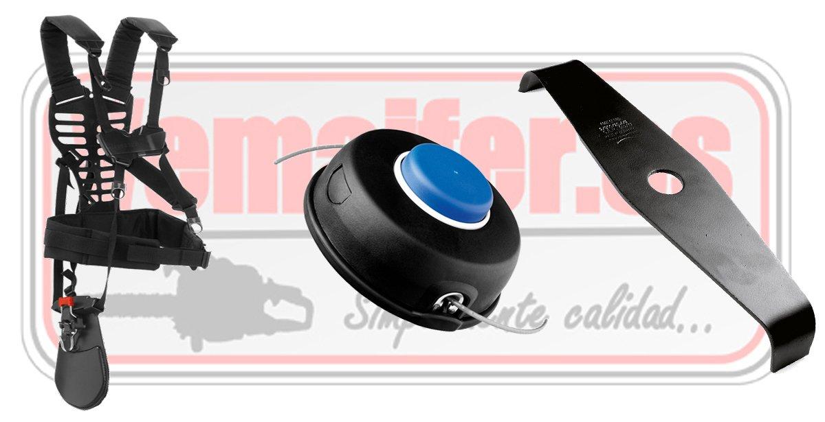 desbrozadora jonsered MC 2256husqvarna arnés, cuchilla, cabezal