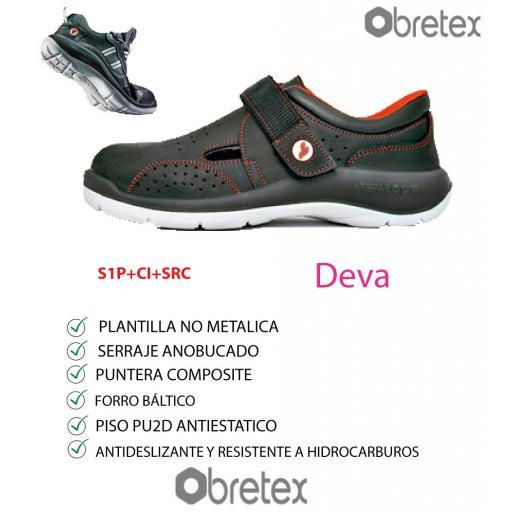 SANDALIA DE  PROTECCION DEVA [0]