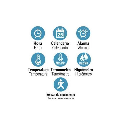 Estación Meteorológica con indicador de hora, calendario [2]