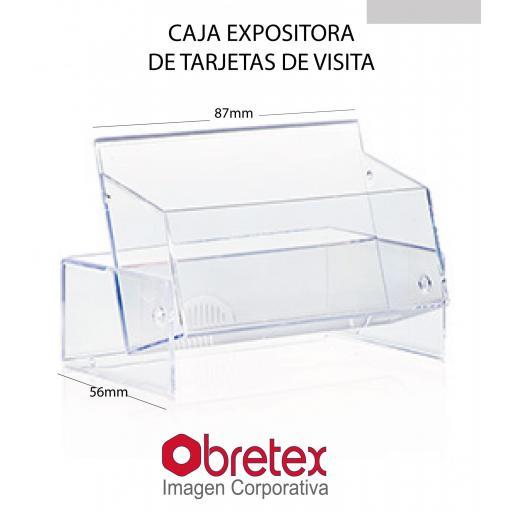 5 CAJAS  EXPOSITOR DE TARJETAS DE VISITA