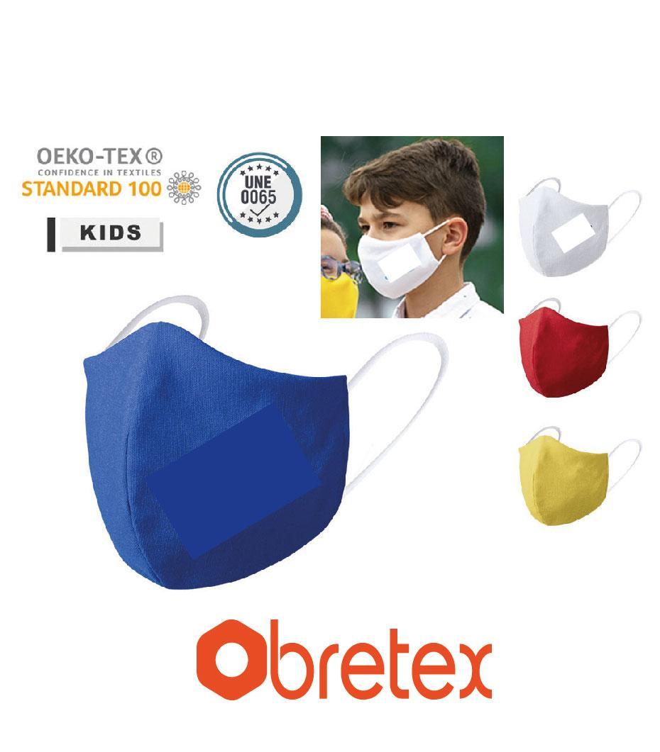 MascarillaS higiénica reutilizable para niño