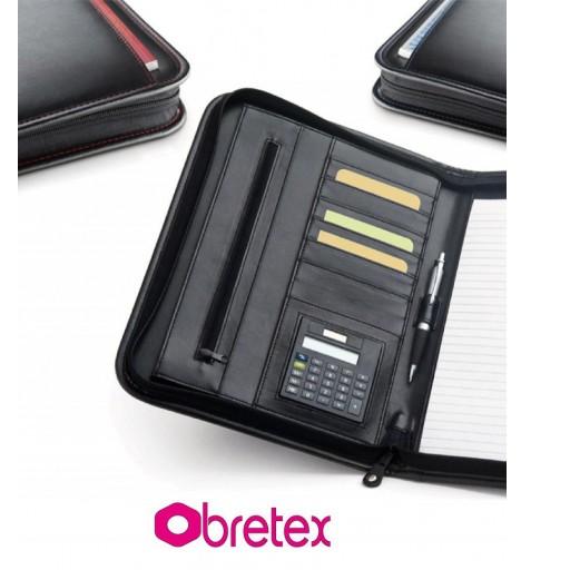 Portafolio A4 con calculadora