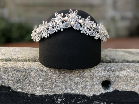 corona Lyra | corona para novia | rara avis tocados