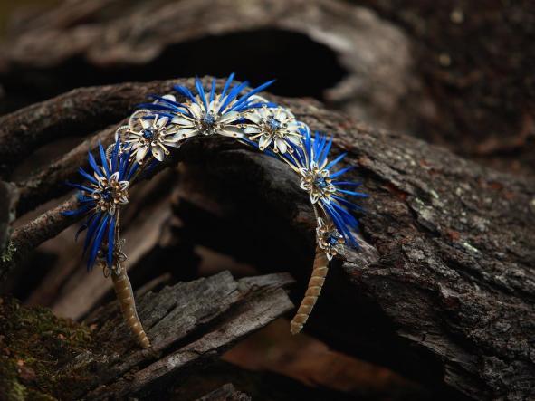 Diadema Evandra Azul