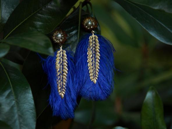 Pendientes Agave Azul  [3]
