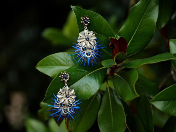 Pendientes Teseida Azul [2]