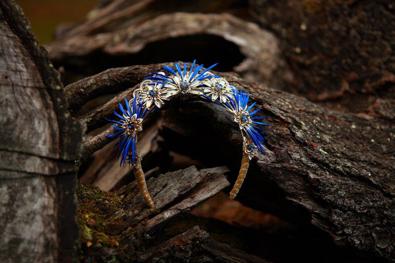 Diadema Evandra Blue | Diadema para Novia