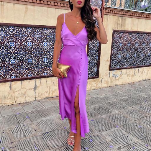 Vestido Malva Satin