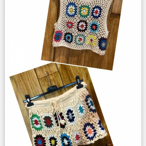Pantalón Y Top Crochet  [2]