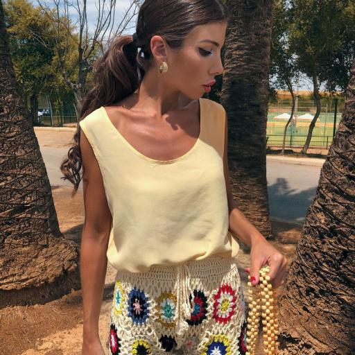 Pantalón Y Top Crochet