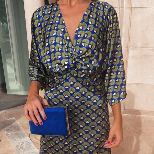 Vestido Abanico Azul