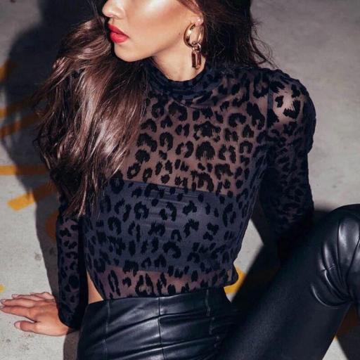 Body Leopard Transparente