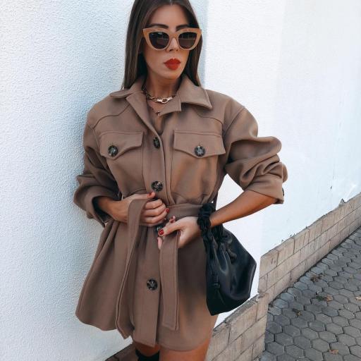 Vestido-Abrigo paño