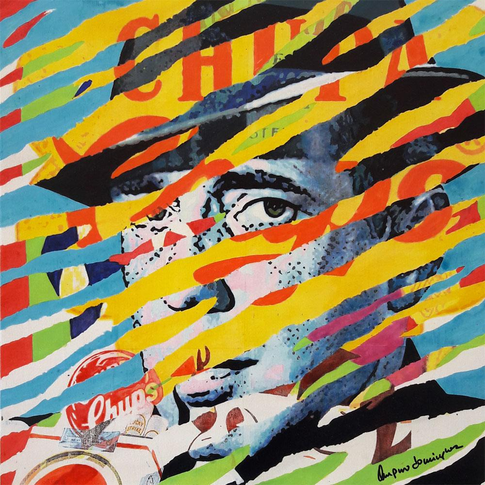 Torn posters: Bogart