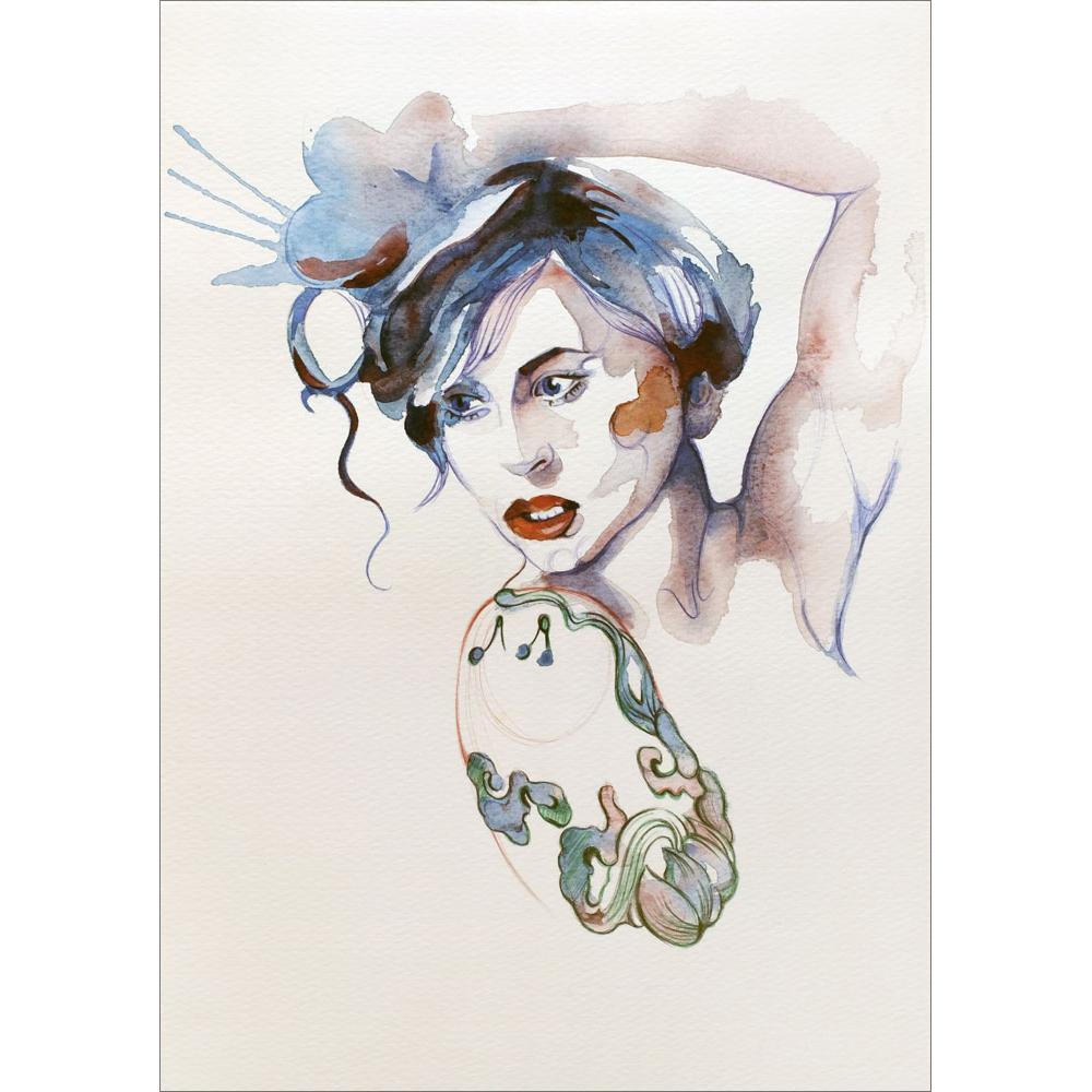 Mujer tatuada
