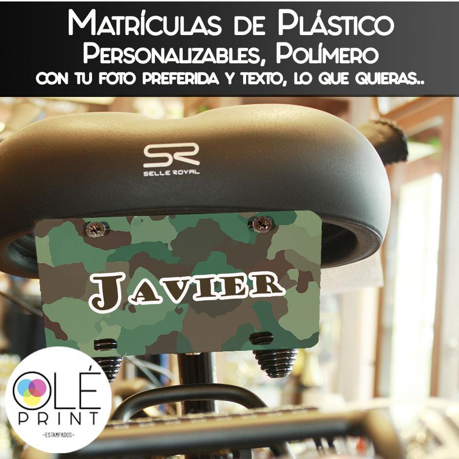 Matricula plástico 75 X 150 mm