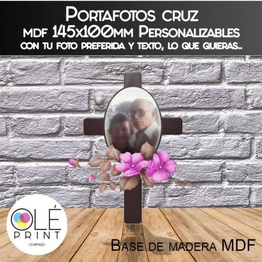 Portafotos cruz mdf 145x100mm