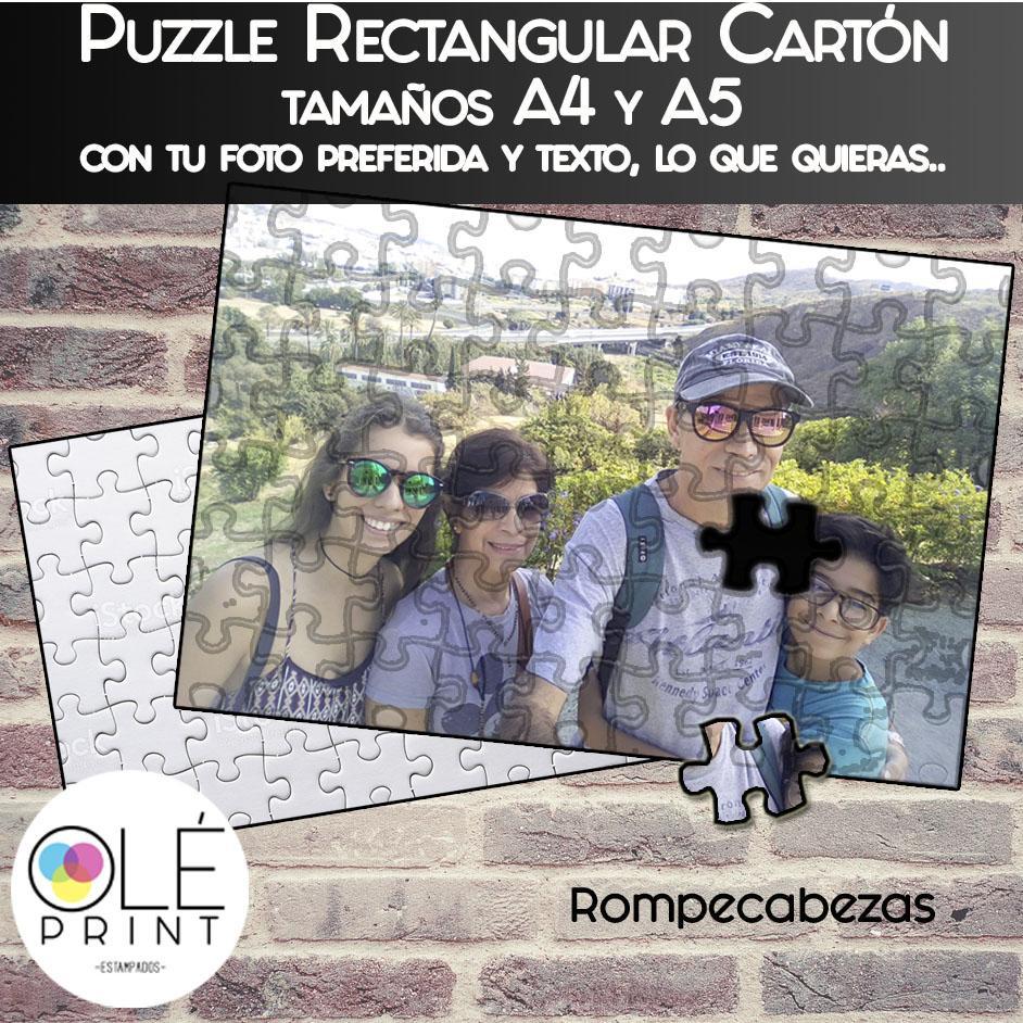 Puzzles Rompecabezas en Cartón, dos tamaños A4 y A5