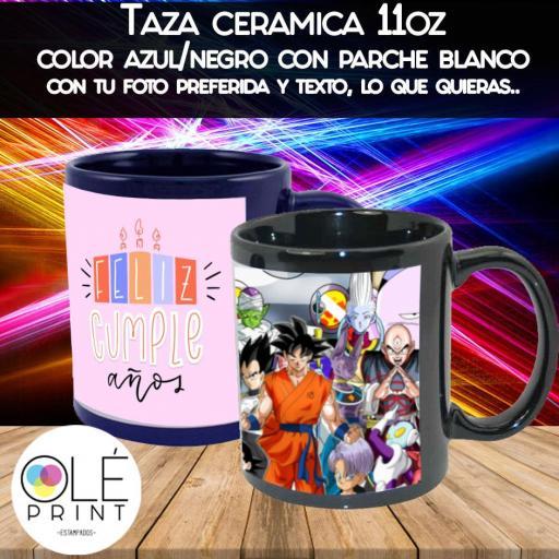 Taza Cerámica de color 11oz AZ NG con parche  [0]