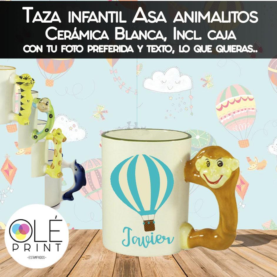 Taza infantil Asa animalitos 11oz + caja