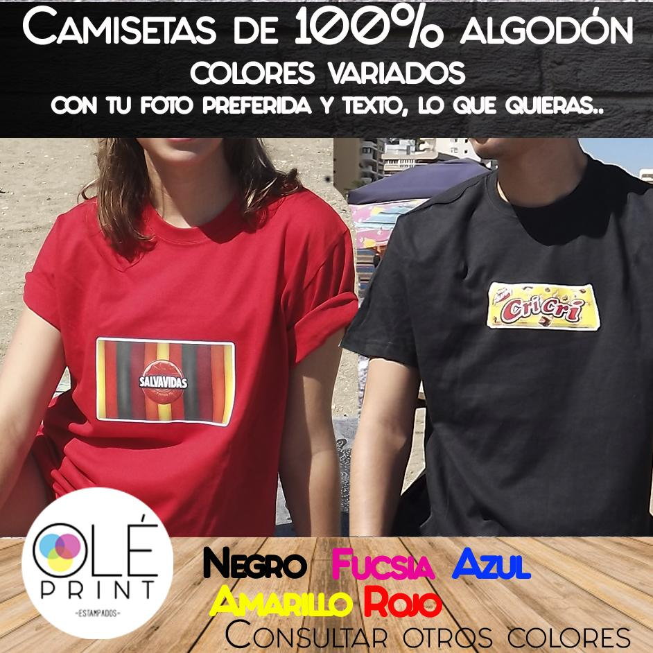Camisetas de Algodón Colores Varios