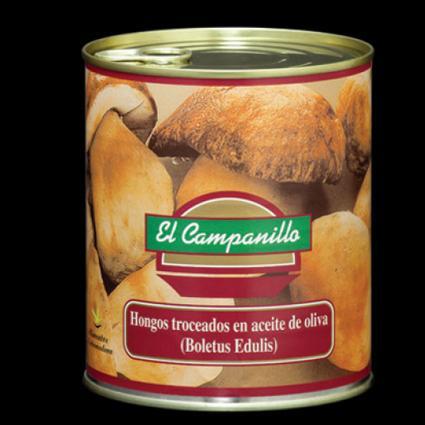 Boletus en Aceite Oliva lata 850 ml