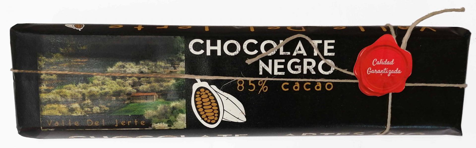 Chocolate negro artesano 85% cacao Valle del Jerte