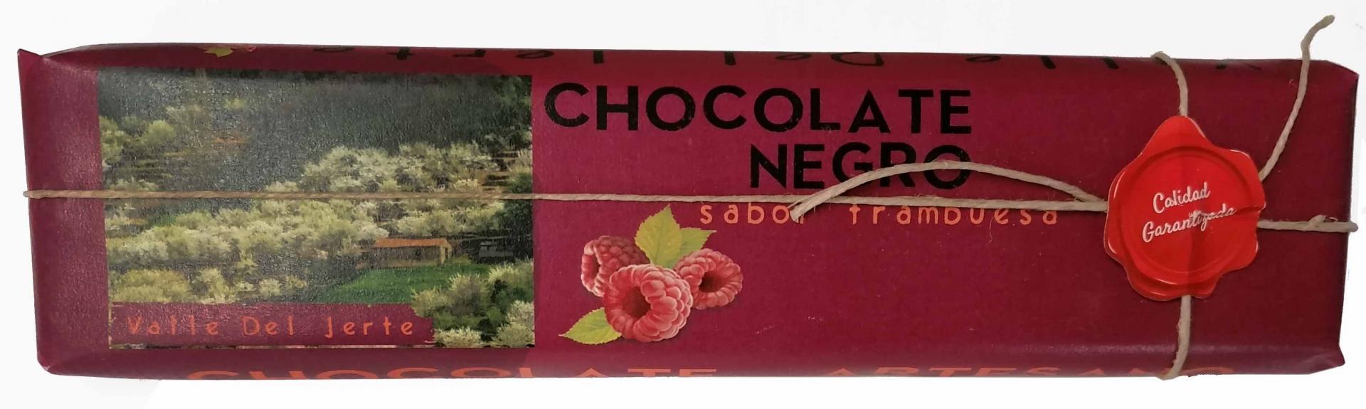 Chocolate negro con frambuesa Valle del Jerte
