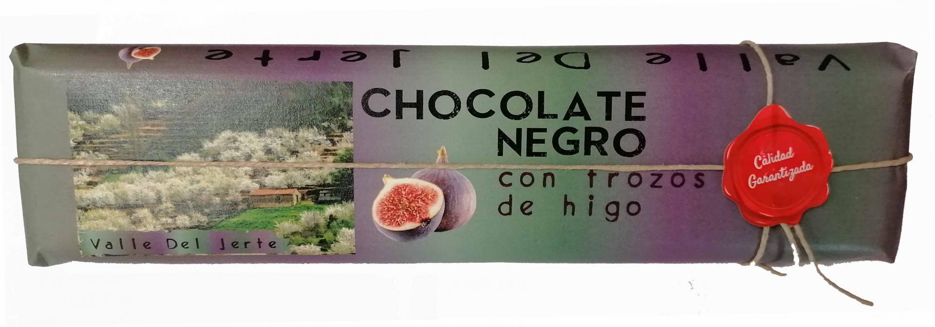 Chocolate negro artesano con higos Valle del Jerte