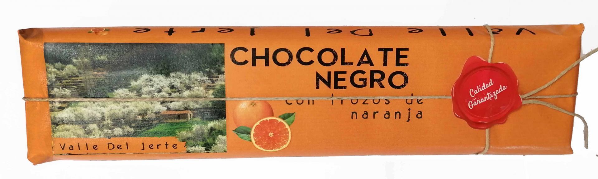 Chocolate negro artesano con naranja Valle del Jerte