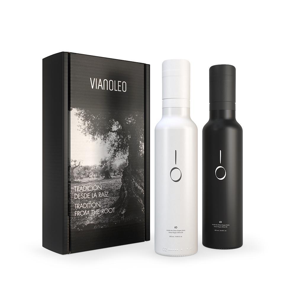 Estuche regalo botella iO Blanco & Negro 250 ml