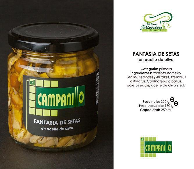 Fantasía de Setas en Aceite de Oliva Tarro 250 ml