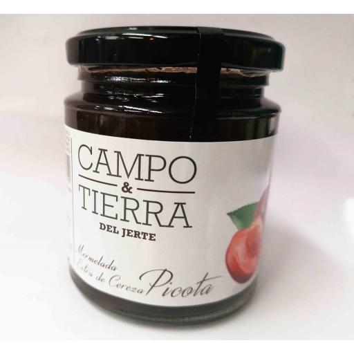 Mermelada de cereza Picota, CAMPO y TIERRA del Jerte, 260 gr.