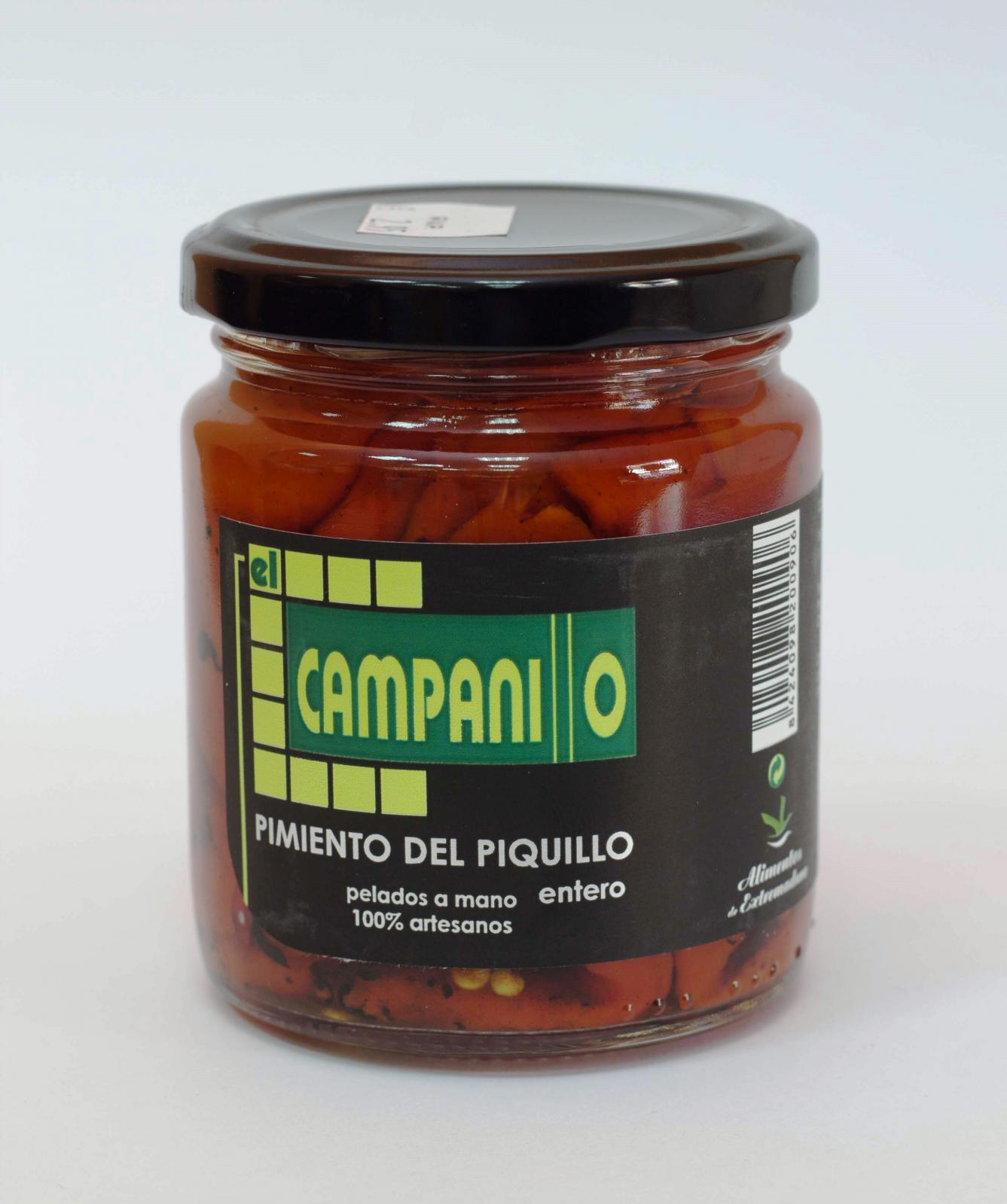 Pimiento de Piquillo Artesano Pelados a mano entero Tarro 314 ml