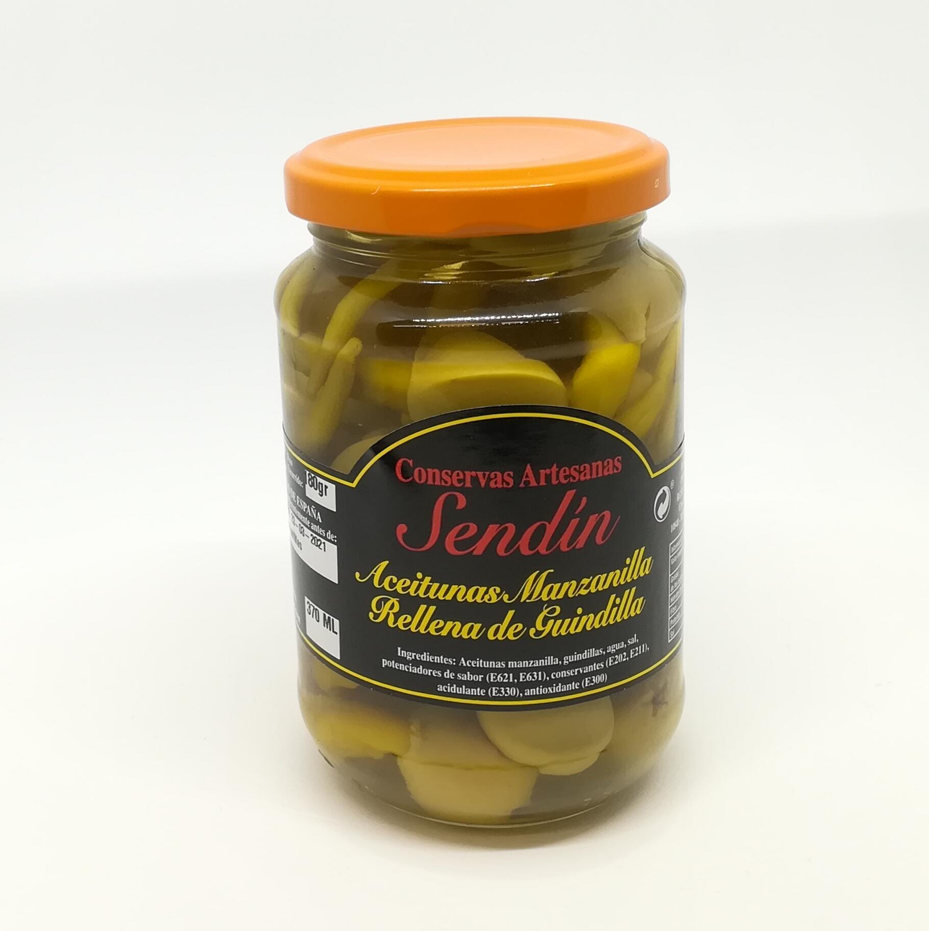 Aceitunas Manzanilla con guindilla 370 ml.