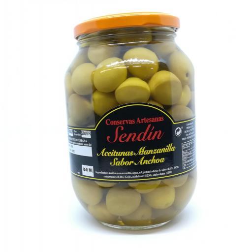Aceitunas Manzanilla sabor anchoa 850 ml