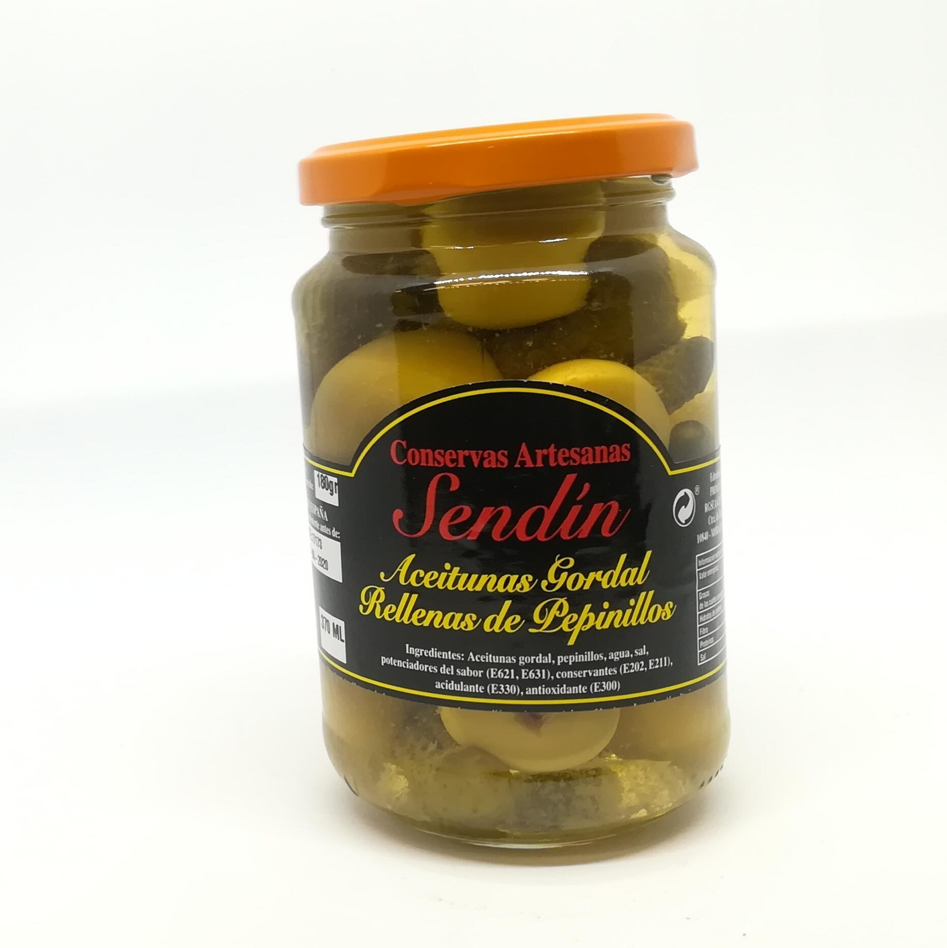 Aceitunas Gordal con pepinillos 370 ml