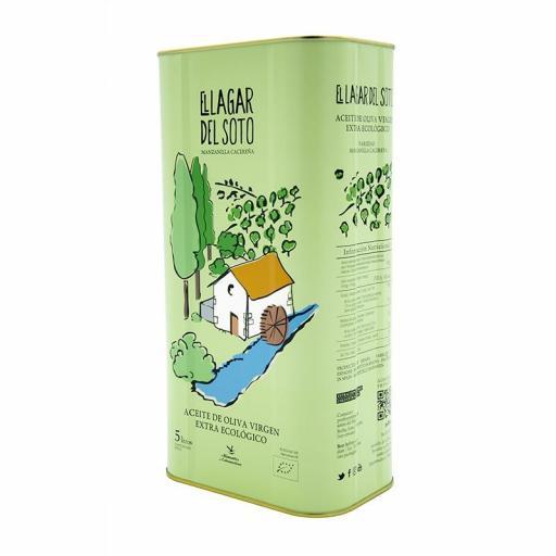 Aceite de oliva virgen extra ecologico Lagar del Soto 5 litros [2]