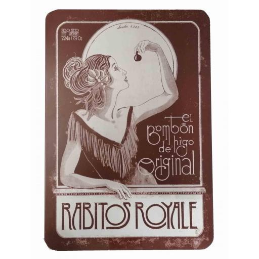 Bombón de higo Rabito Royale caja de lata